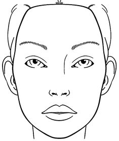 Blank Face Chart Sketch Coloring Page