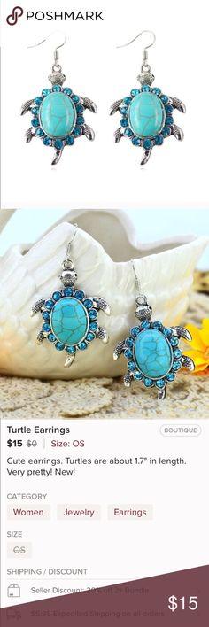(L3) Turtle Earrings See pic Jewelry Earrings