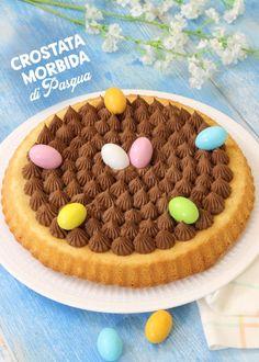 CROSTATA MORBIDA AL CIOCCOLATO DI PASQUA   Fatto in casa da Benedetta Sweet Desserts, No Bake Cake, Tiramisu, Food And Drink, Pudding, Sweets, Cookies, Baking, Ethnic Recipes