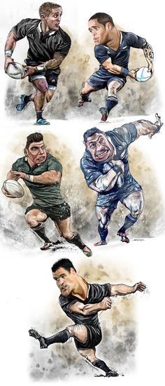Rugby World Cup 2015 Caricatures on Behance