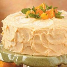 From scratch orange layer cake www.tasteofhome.c...