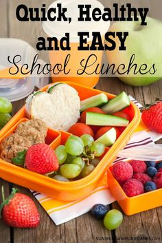 Are you struggling to feed your child healthy lunches they will actually like? Are you short on time and finding trying to play easy school lunches stressful? No worries, we've go a whole week of quick, healthy and easy school lunches that won't stress yo Healthy Kids, Healthy Snacks, Healthy Eating, Healthy Recipes, Veggie Recipes, Lunch Snacks, Lunch Recipes, Lunch Box, Kid Lunches