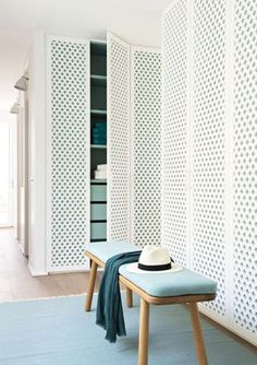 Interior decorating and home design ideas to make your place a better. Living room, bedroom, kitchen, and other rooms inspirations. Wardrobe Doors, Closet Doors, Shoe Closet, Front Closet, Double Closet, Hallway Closet, Cupboard Wardrobe, Wardrobe Drawers, Ikea Closet