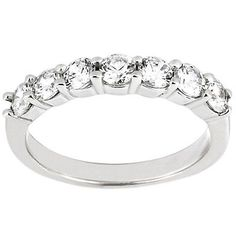 #jewelry 0.14 CT Carat Round Diamond HI-SI2 Wedding Band Ring 14k White Gold-6496 please retweet