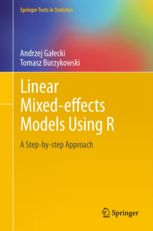Linear mixed-effects models using R : a step-by-step approach / Andrzej Galecki, Tomasz Burzykowski. 2013. Máis información: http://www.springer.com/statistics/statistical+theory+and+methods/book/978-1-4614-3899-1
