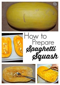 Spaghetti squash is a versatile vegetable that can be prepared in a  number of ways. Here's a great tutorial on how to make this easy, healthy vegetable and substitute it for pasta.  Great recipe!