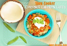 Slow Cooker Coconut Curry This is amazing and so easy!!! This is going in my meal rotation for sure and it can easily be doubled or trippled for groups.  ~Marie