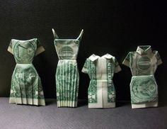 Money Origami Dresses