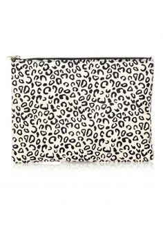 Zipped Ponyskin Clutch - Clutch - Bags - London-Boutiques.com