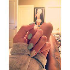 Instagram : @NailsByJori Nails | Gel Nails | Teal Nails | Almond Nails | Nail Designs