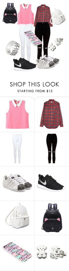 """""""Vuelta al cole"""" by estilistaes on Polyvore featuring WithChic, R13, Miss Selfridge, New Look, adidas Originals, NIKE, 7 Chi, Pusheen and TOUS"""