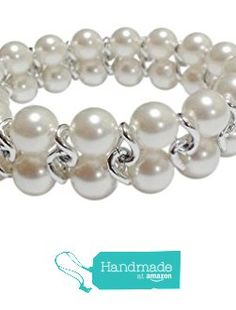 White Simulated Pearl Bracelet Crystals by Swarovski, 7.5 Inches from Pam Handmade Jewelry and Accessories https://www.amazon.com/dp/B0197F64RQ/ref=hnd_sw_r_pi_dp_oNSCyb9CXNM97 #handmadeatamazon