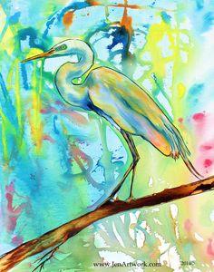 """""""Color Crane"""" - Jen Callahan Artwork - Coastal Colors™"""