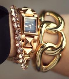 gold and chunky stack ♥✤ | Keep the Glamour | BeStayBeautiful