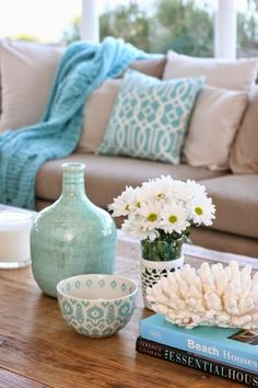 Decoração em turquesa: Sala de estar: