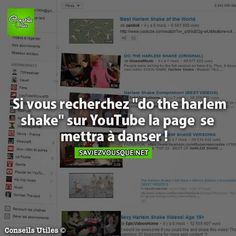 Saviez Vous Que? | Tous les jours, découvrez de nouvelles infos pour briller en société ! The More You Know, Good To Know, Did You Know, Do The Harlem Shake, Cc Video, Funny Fun Facts, Things To Know, Knowing You, Affirmations