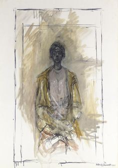 Alberto Giacometti - Annette au manteau, 1964 - Huile sur toile - x cm Alberto Giacometti, Modern Art, Contemporary Art, Top Artists, Impressionist, Oil On Canvas, Sculpture, Drawings, Paintings