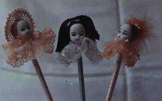 Lápis Carinhas - Florista,Japonesa e Bailarina