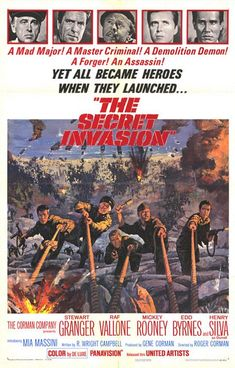 The Secret Invasion (1964) Stars: Stewart Granger, Raf Vallone, Mickey Rooney, Edd Byrnes, Henry Silva, Spela Rozin ~  Director: Roger Corman
