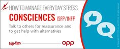 Consciences ISFP INFP  #stress