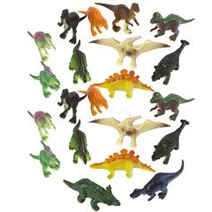 A Jurassic adventure awaits! Our Toy Prehistoric Dinosaurs are a collection of small dinosaur figurines, including Pterodactyl, T-Rex, Brontosaurus and more. Toy dinosaurs make great gifts or favors f