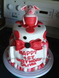 Coolest Olivia Cake... This website is the Pinterest of birthday cake ideas