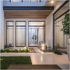 Private villa kuwait landscaping by Sarah sadeq architects