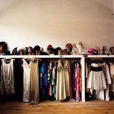 I want my closet to look like a dressing room :)