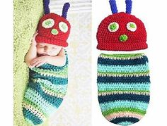 AccessoryStation Cute Baby Unisex Newborn Boy Girl Crochet Knitted Baby Outfits Costume Set Photography Photo Prop-Ca
