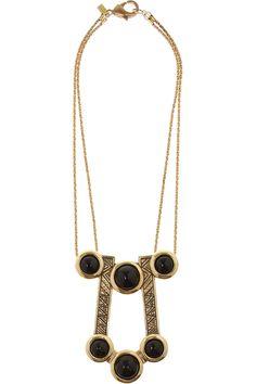 Pamela Love | Comet gold-tone onyx necklace | NET-A-PORTER.COM