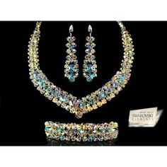 Biżuteria ślubna Swarovski Elements KP10