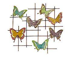 Plaque décorative métal, multicolore - 65*61