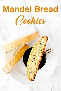 Mandelbriot or mandel bread is a Jewish almond biscotti cookie! It is dairy free and a cup of coffees best friend. Biscotti Cookies, Almond Cookies, Jewish Cookies, Dairy Free Recipes Easy, Gluten, Kosher Recipes, Pudding, Jewish Recipes, Vegan