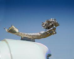 A fine art photo of a mermaid car mascot hood ornament. It's a MERMAID, so you just KNOW I'm gonna LOVE it! Rat Rods, Vintage Cars, Antique Cars, Car Bonnet, Car Badges, Car Logos, Car Hood Ornaments, Radiator Cap, Automotive Art