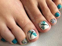 51 Ideas pedicure nail art summer for 2019 Toe Nail Color, Toe Nail Art, Nail Colors, Pretty Toe Nails, Cute Toe Nails, Gorgeous Nails, Pretty Pedicures, Swatch, Summer Toe Nails