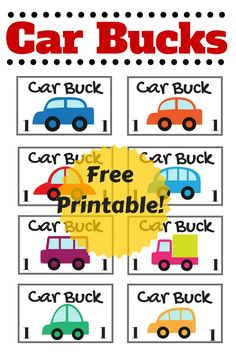 Great for motivating kids to behave in the car! We are using these for our trip to Disneyland this year! (travel printables for kids)