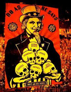 :: note de service :: Il faut absolument arrêter de juger les politiciens sur ce qu'ils disent mais sur ce qu'ils font et le plus puissant d'entre eux encore plus ! La Maison Blanche, le Pentagone, le Département d'Etat, le FBI, la CIA, etc. peuvent avoir des différences de style, mais ils ont tous le même, connu et bien défini objectif: la défense des intérêts économiques et géopolitiques de son élite. :: Preuve de concept ::  http://killinghope.org/...