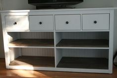 hemnes ikea dresser - with stain and paint... plus removed the 4 drawers and leggs