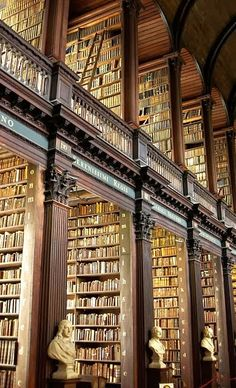 The Long Room in the Trinity Library--Dublin, Ireland. Leave me here for a month ❤