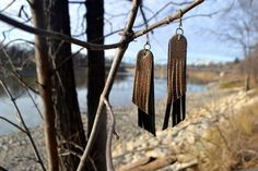 How adorable! Made in India. Feather Earrings, Drop Earrings, Fair Trade Clothing, Artisan, My Style, Outdoor Decor, How To Make, Leather, India