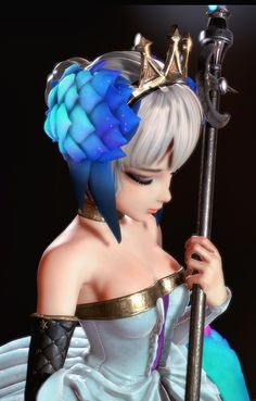 Odin Sphere – Gwendolyn 3D Art by chang-gon shin – zbrushtuts