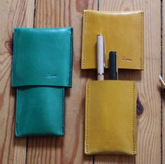 Pens leather case. Designed by Ludena.