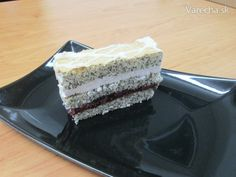 Makovo-višňové rezy - Recept