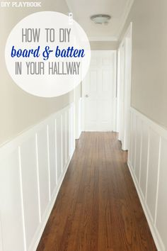 hallway finally. add personality to any plain hallway with board u0026 batten hereu0027s how tackle this finally l
