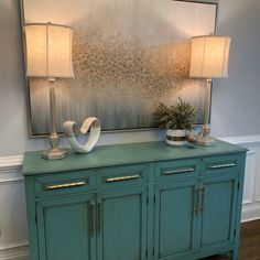 Our team custom build this beautiful credenza for a very special client and accessorize it with 2 beautiful lamps from Forty West . Custom build and design by Black Dog Design Residential Interior Design, Commercial Interior Design, Commercial Interiors, Interior Design Services, Dog Design, House Design, Cabinet Furniture, Custom Cabinets, Design Firms