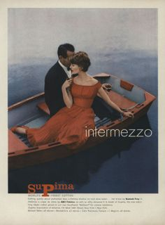 Intermezzo Vogue Archive, 1957 #Supima #Vintage #1957 #Vogue
