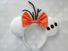 Olaf Inspired Mouse Ears Headband Custom Ears par EarsComeTrue