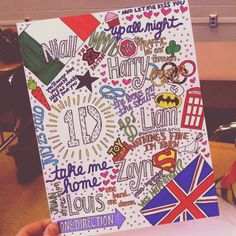 One Direction Collage Art. $5.00, via Etsy.