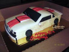 3D Mustang Car Cake    Butter Cream Iced  Fondant Detail