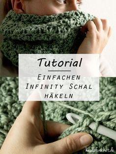 Tutorial: Einfachen Infinity Schal häkeln - haus of crochet #DIY #Tutorial #Anleitung #pattern #häkeln #crochet #free #kostenlos #blog